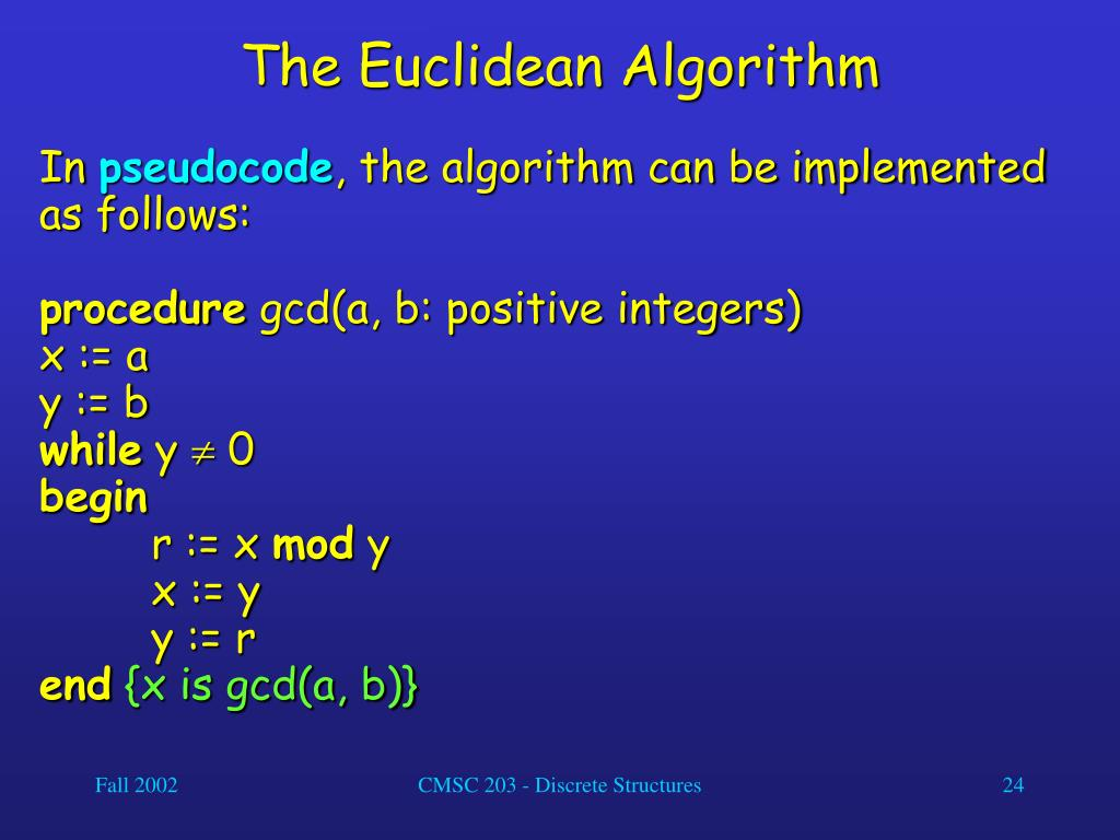The Euclidean Algorithm