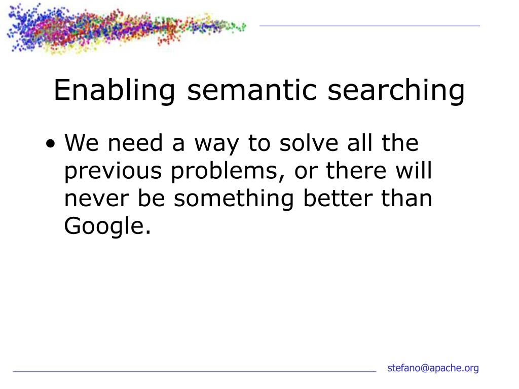 Enabling semantic searching