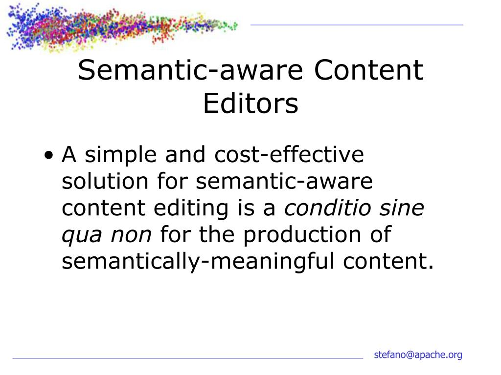 Semantic-aware Content Editors