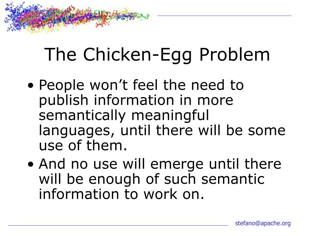 The Chicken-Egg Problem