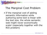 the marginal cost problem