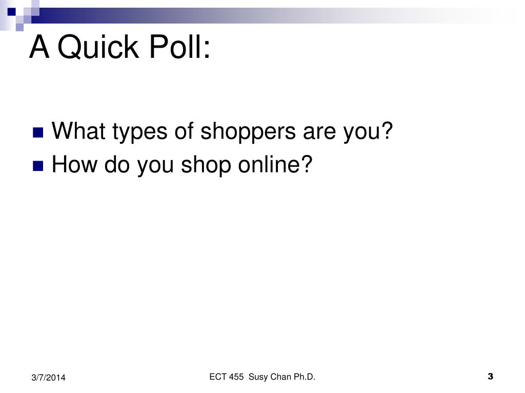 A Quick Poll: