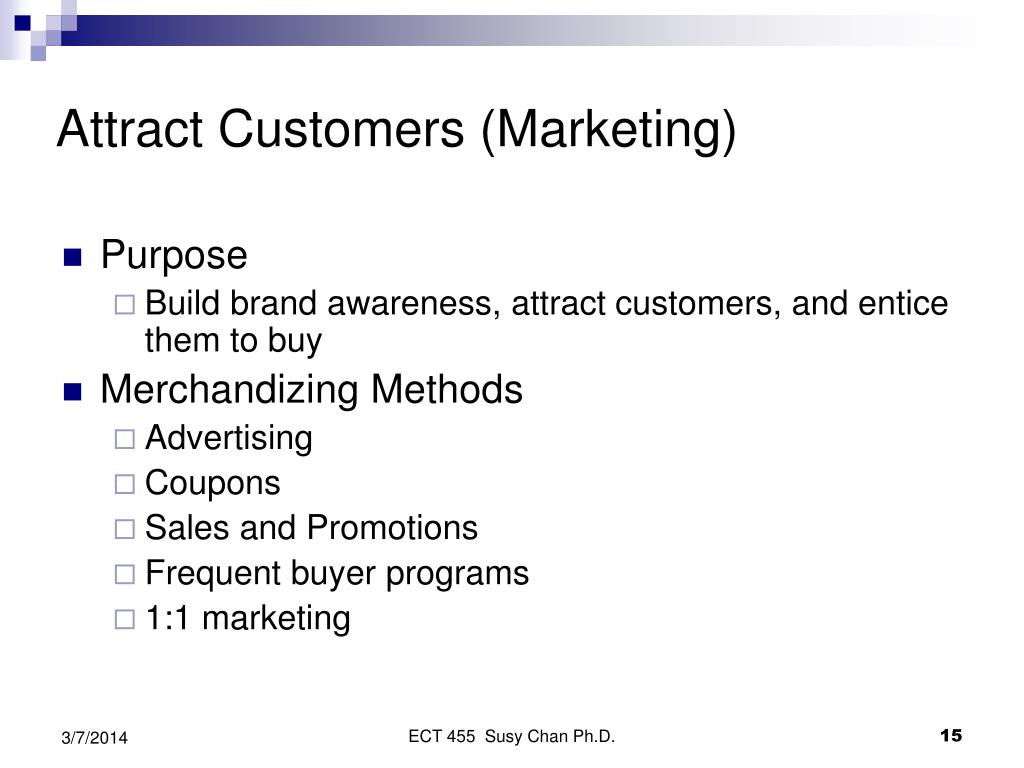 Attract Customers (Marketing)