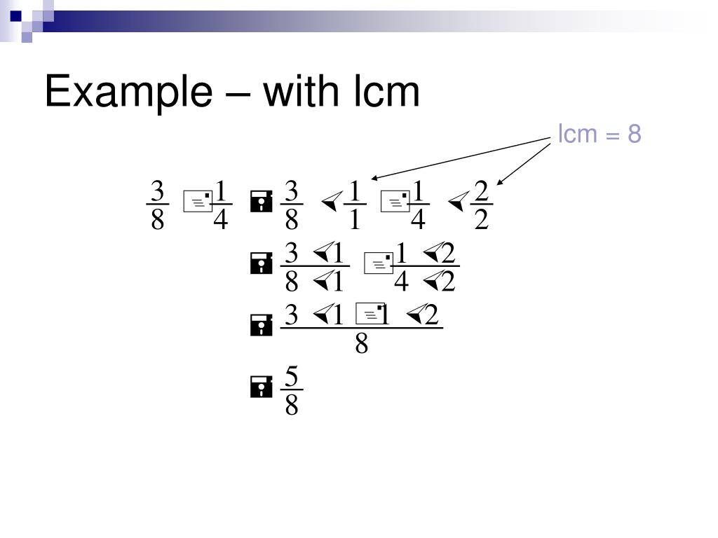 Example – with lcm