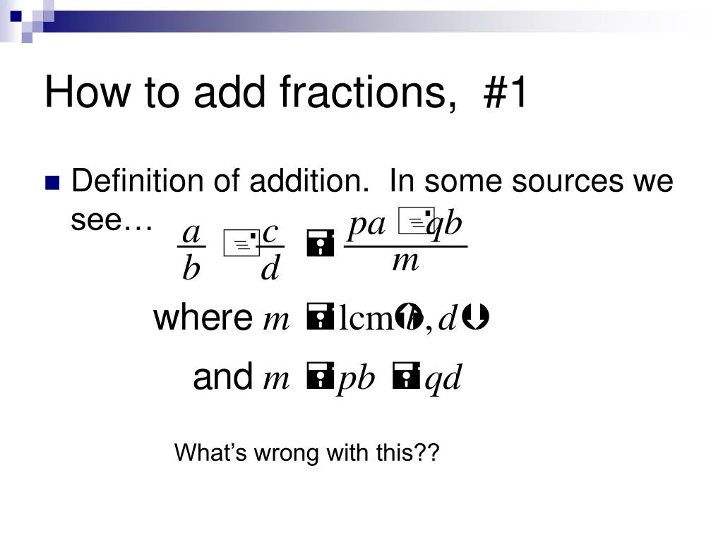 How to add fractions,  #1