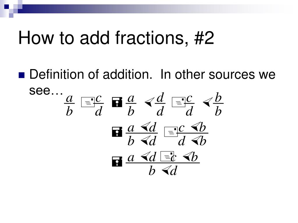 How to add fractions, #2