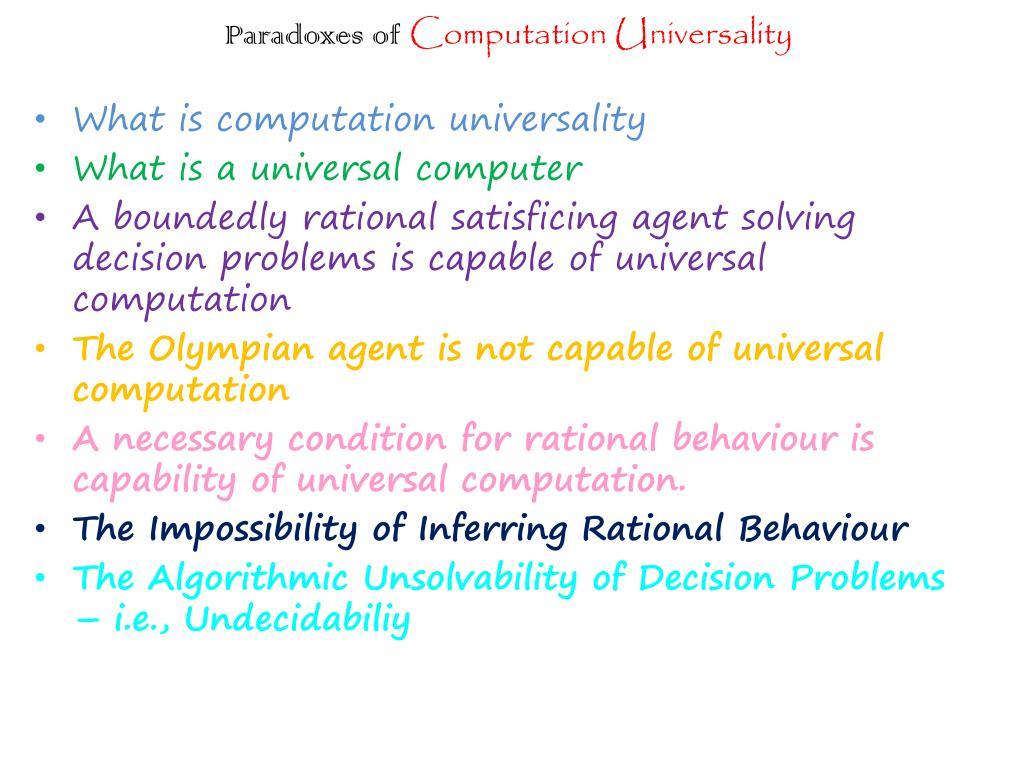 Paradoxes of