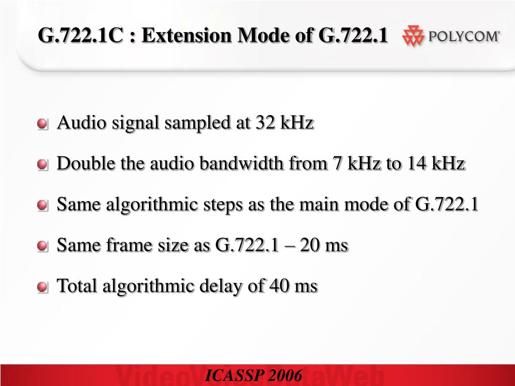 G.722.1C : Extension Mode of G.722.1