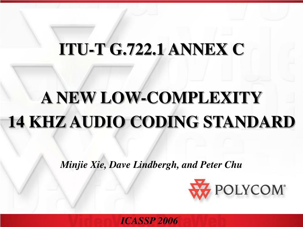 ITU-T G.722.1 ANNEX C