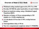 overview of main g 722 1 mode