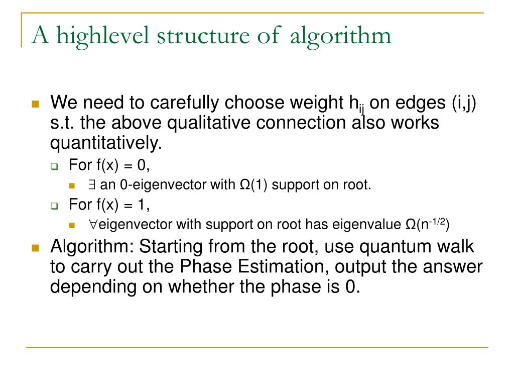 A highlevel structure of algorithm