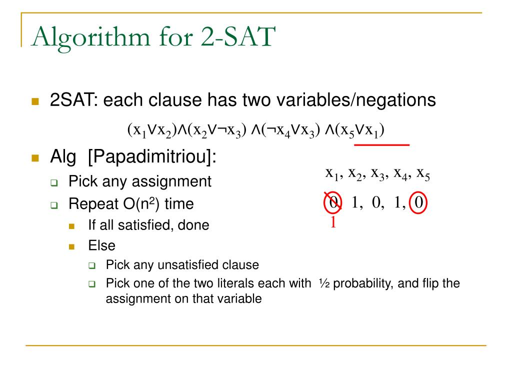Algorithm for 2-SAT