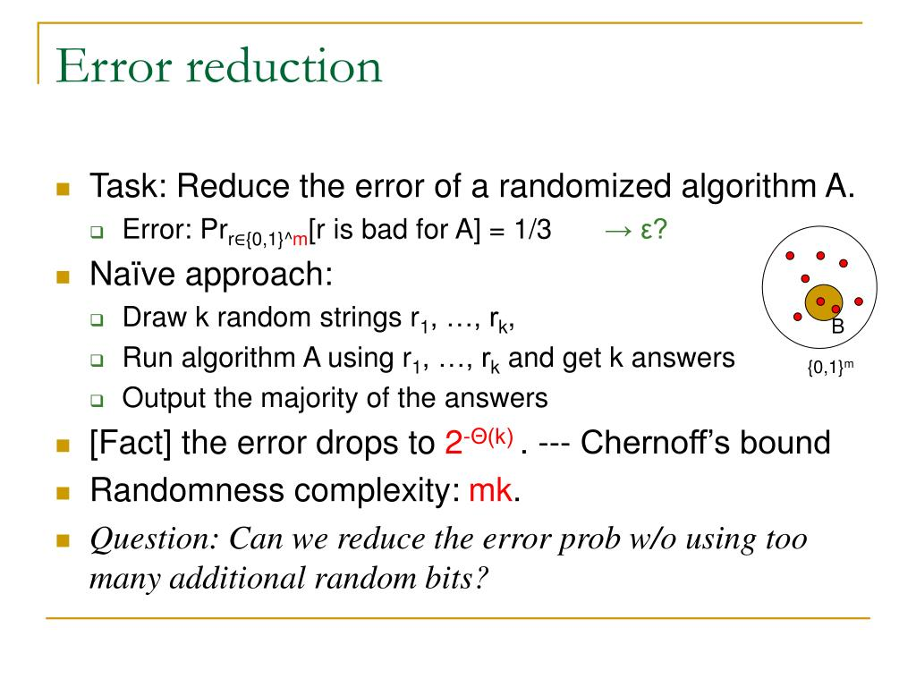 Error reduction