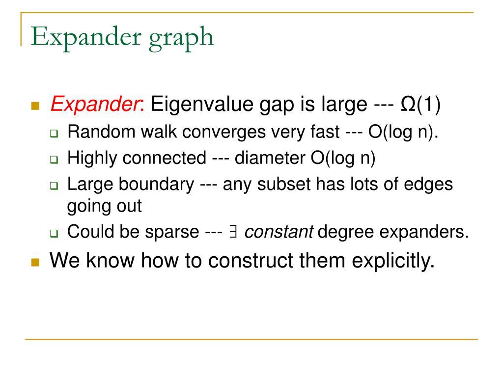 Expander graph
