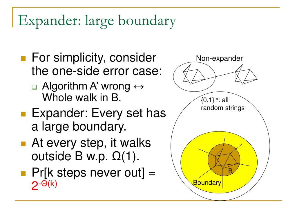 Expander: large boundary