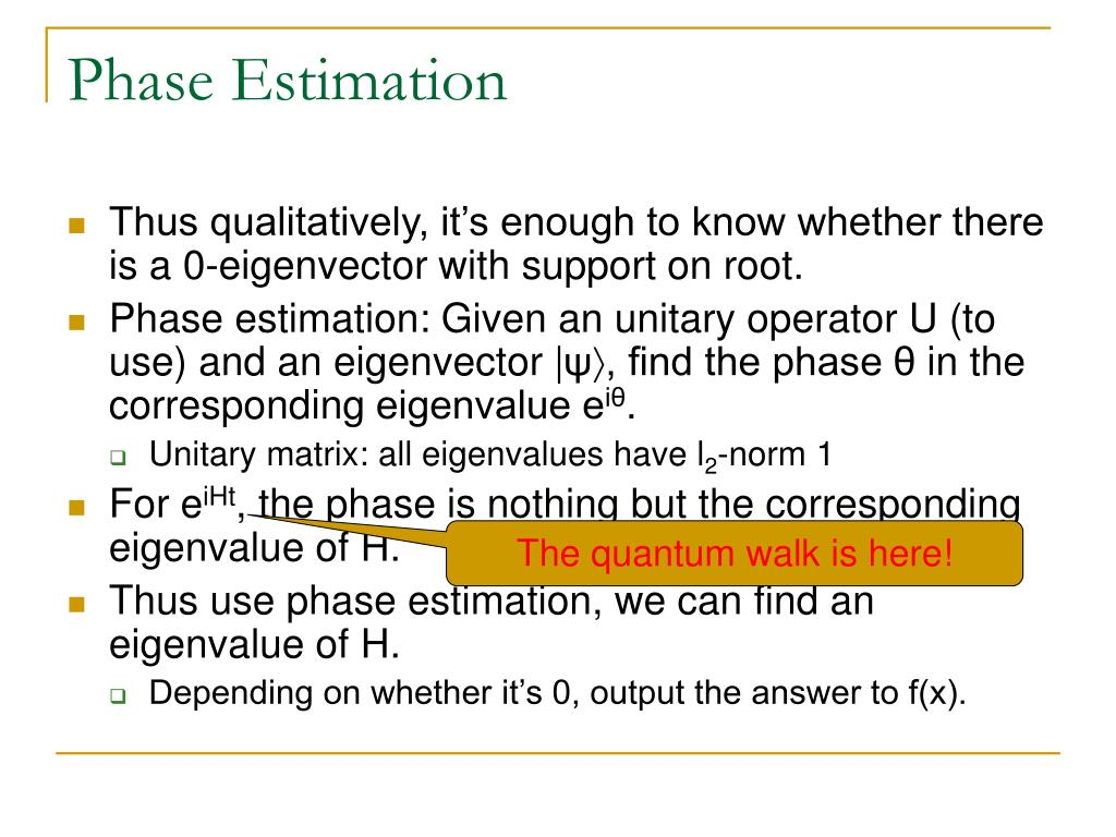 Phase Estimation