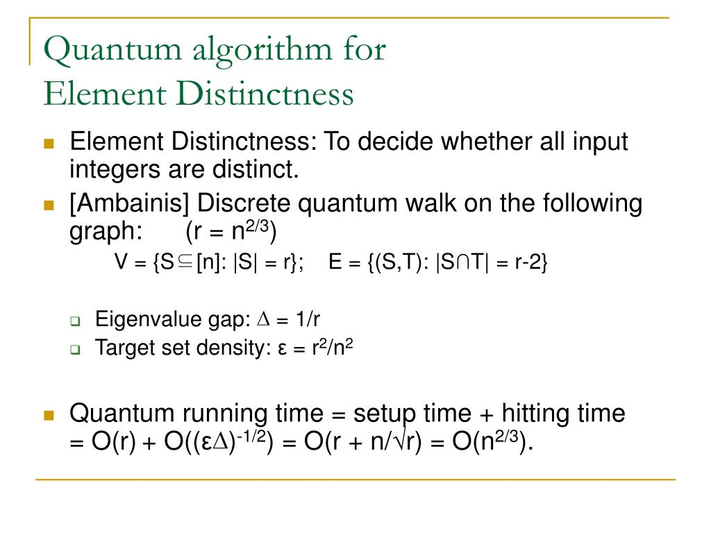 Quantum algorithm for