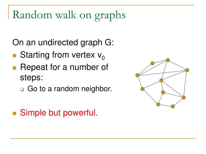 Random walk on graphs