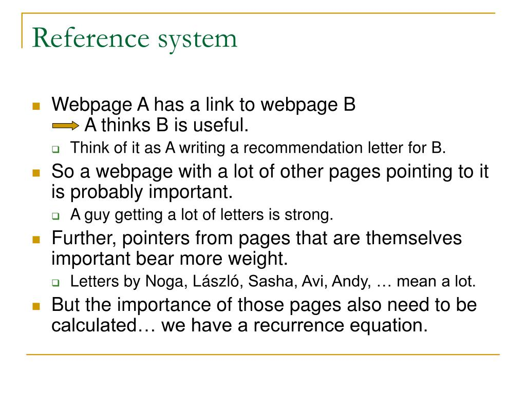 Reference system