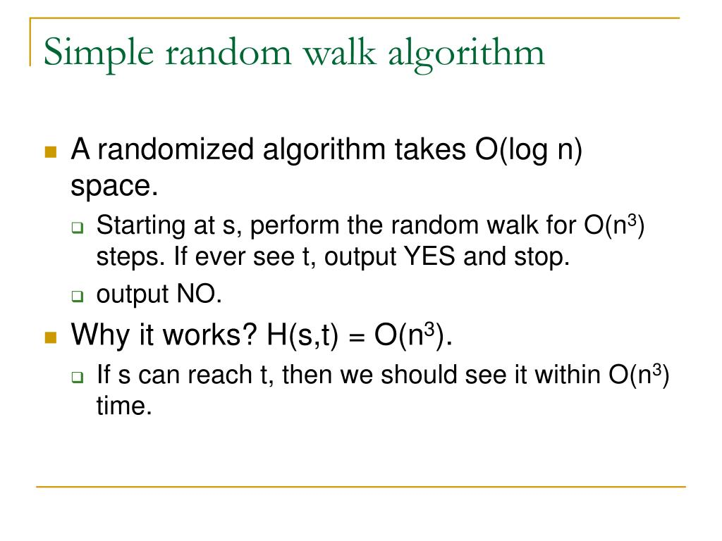 Simple random walk algorithm