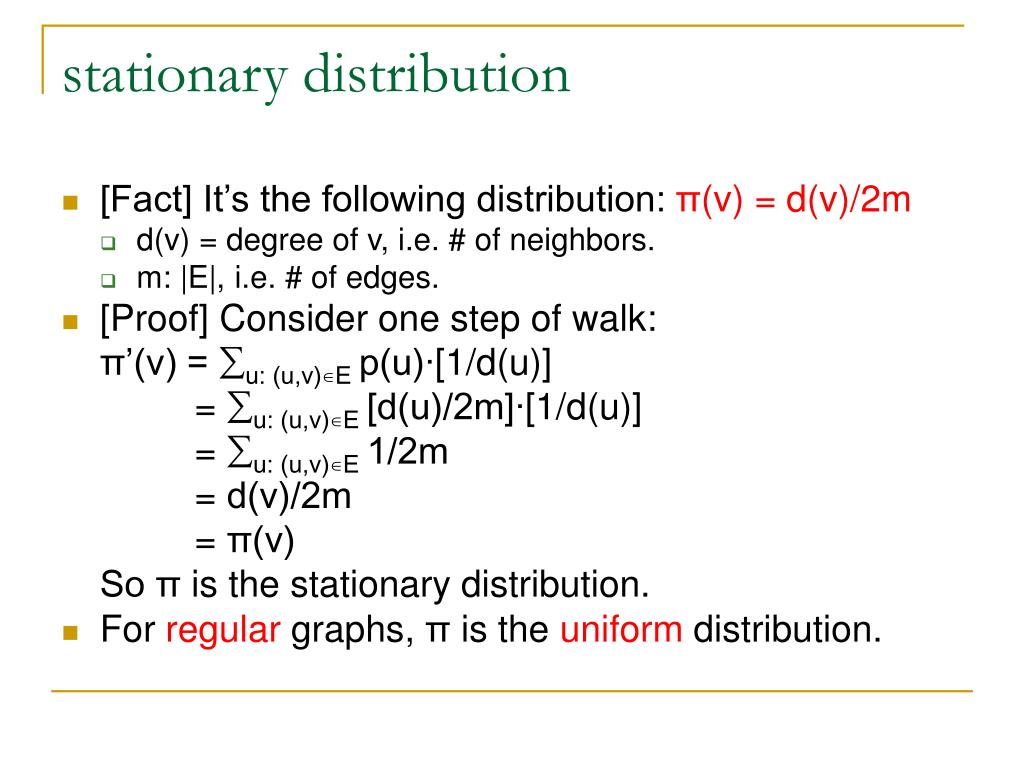 stationary distribution