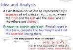 idea and analysis