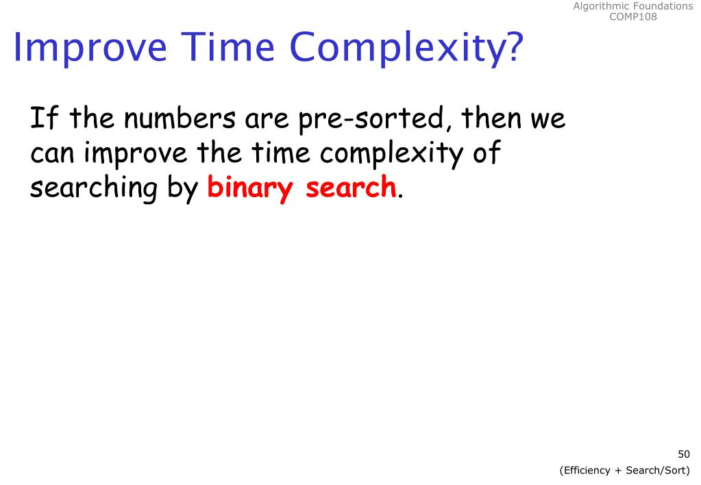Improve Time Complexity?