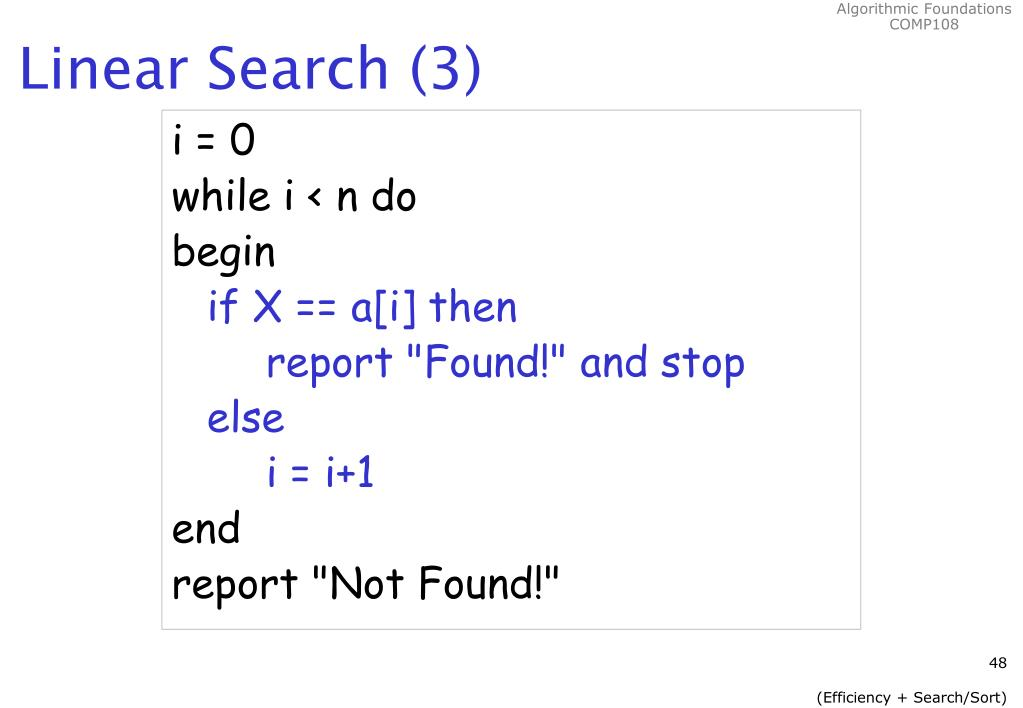 Linear Search (3)