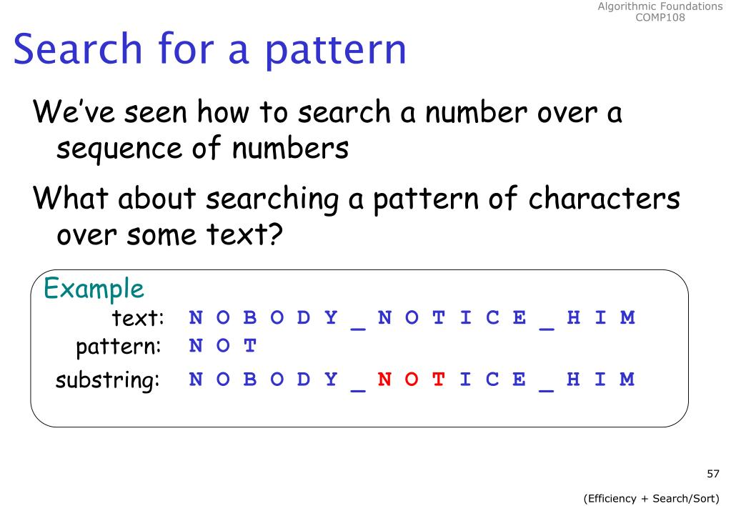 Search for a pattern