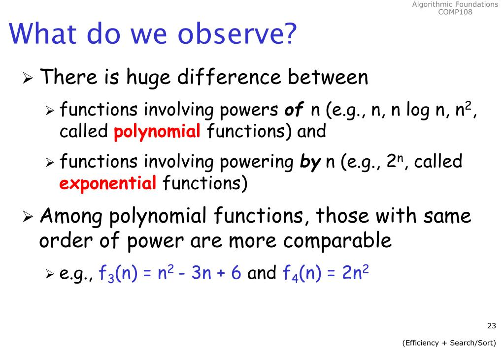 What do we observe?