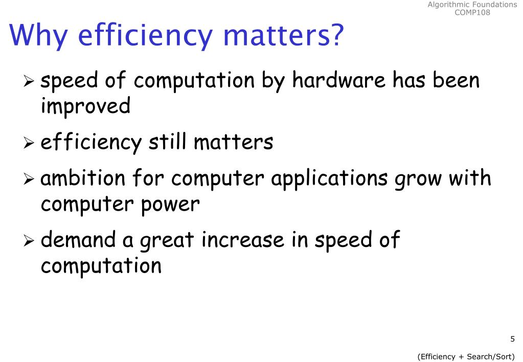 Why efficiency matters?