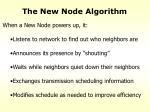 the new node algorithm