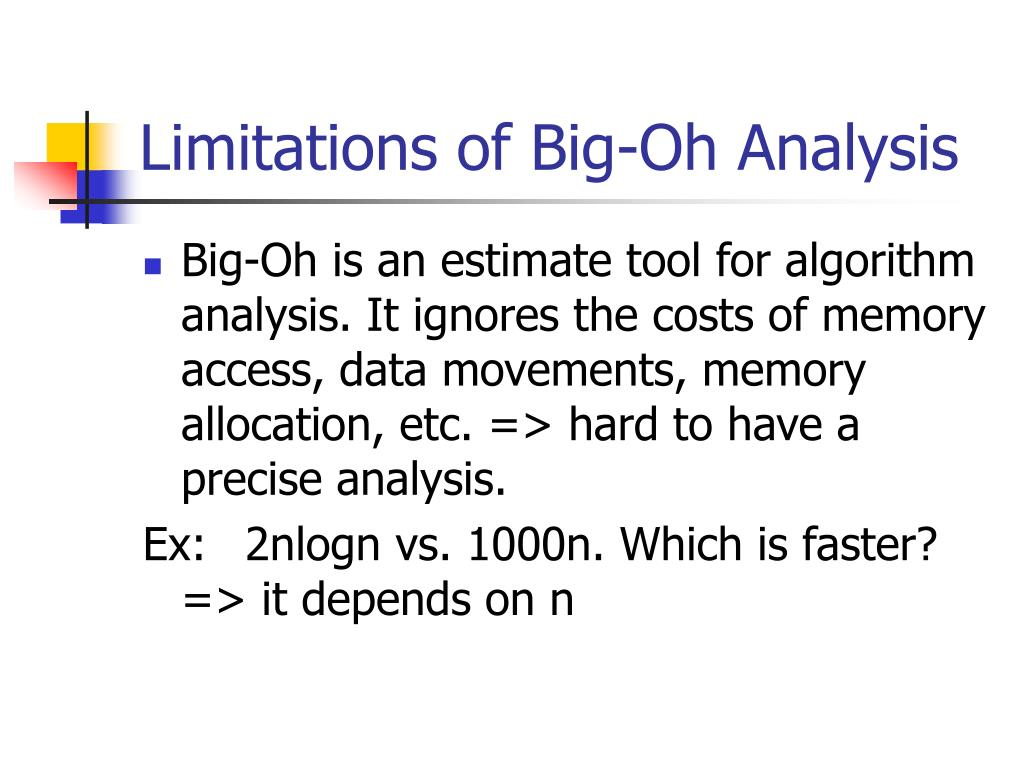 Limitations of Big-Oh Analysis