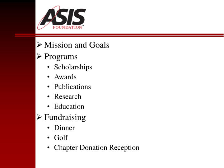 Mission and Goals