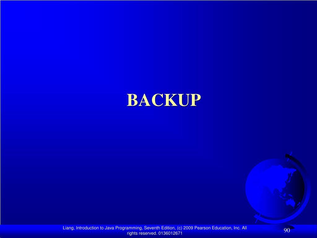 backup