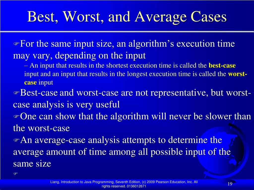 Best, Worst, and Average Cases