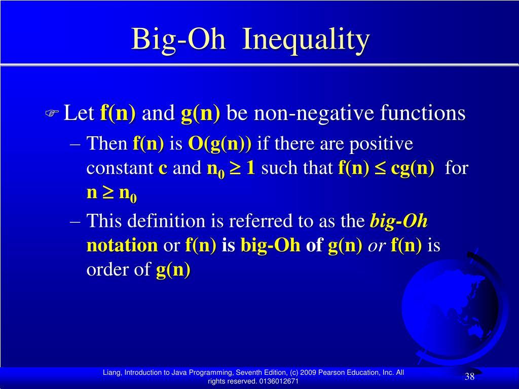 Big-Oh  Inequality