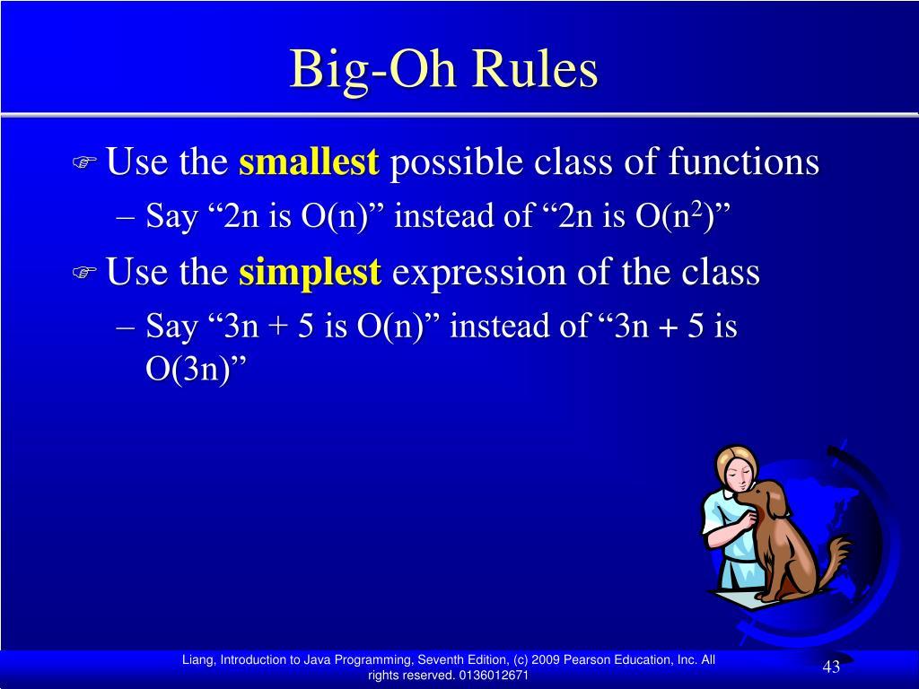 Big-Oh Rules