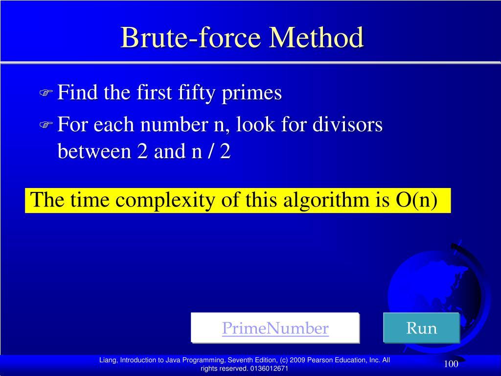 Brute-force Method