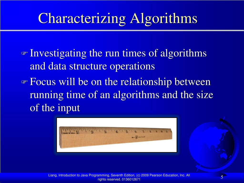 Characterizing Algorithms