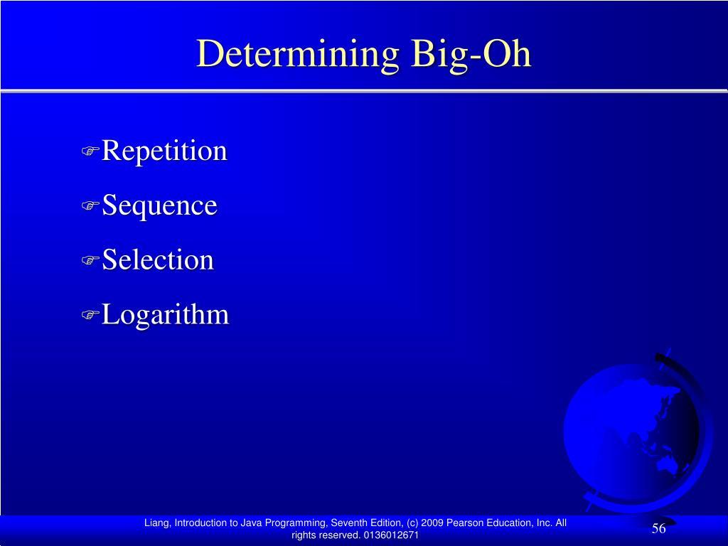 Determining Big-Oh