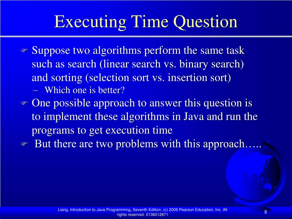 Executing Time Question