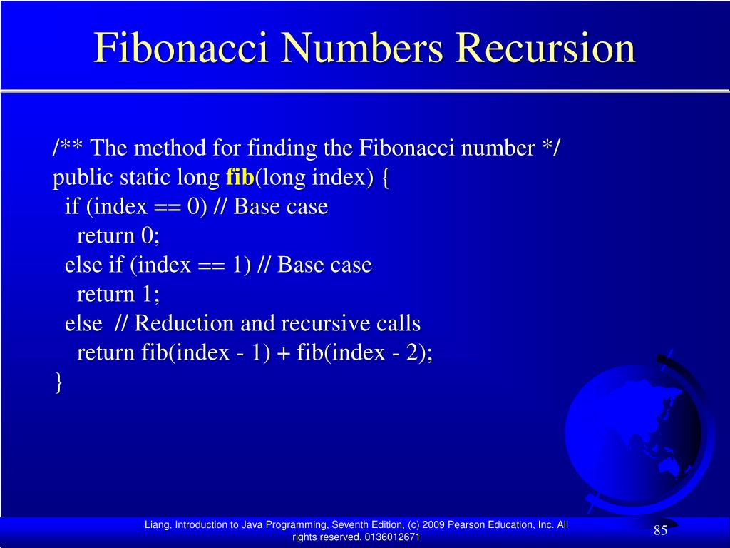 Fibonacci Numbers Recursion