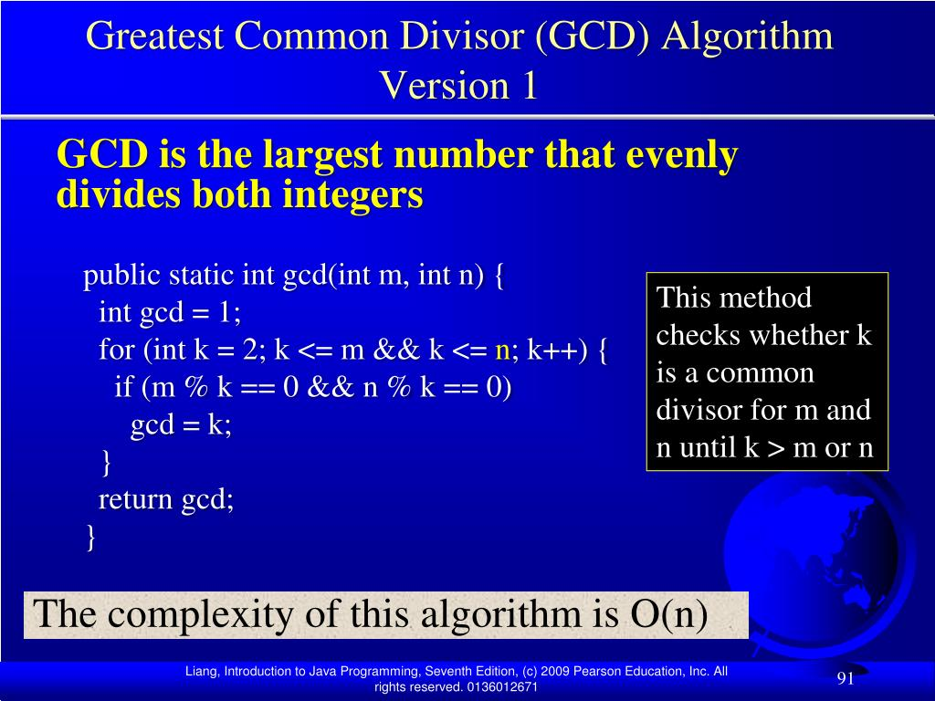 Greatest Common Divisor (GCD) Algorithm Version 1