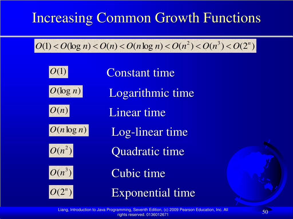 Increasing Common Growth Functions