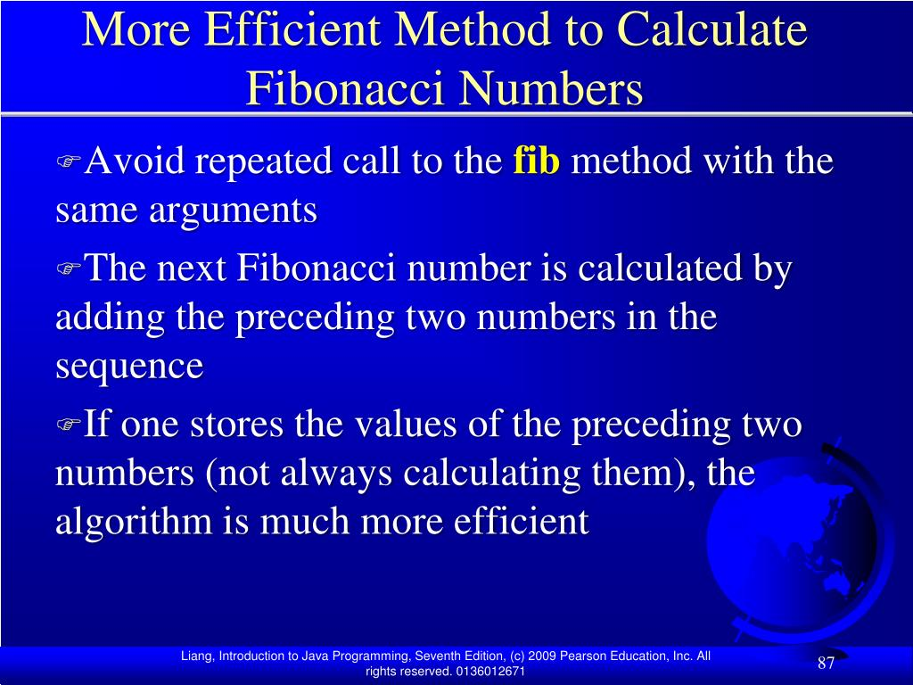 More Efficient Method to Calculate Fibonacci Numbers