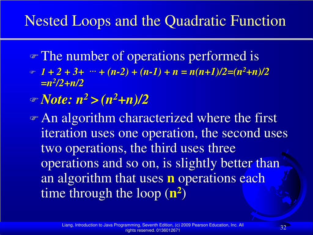 Nested Loops and the Quadratic Function