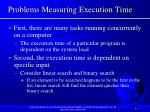 problems measuring execution time