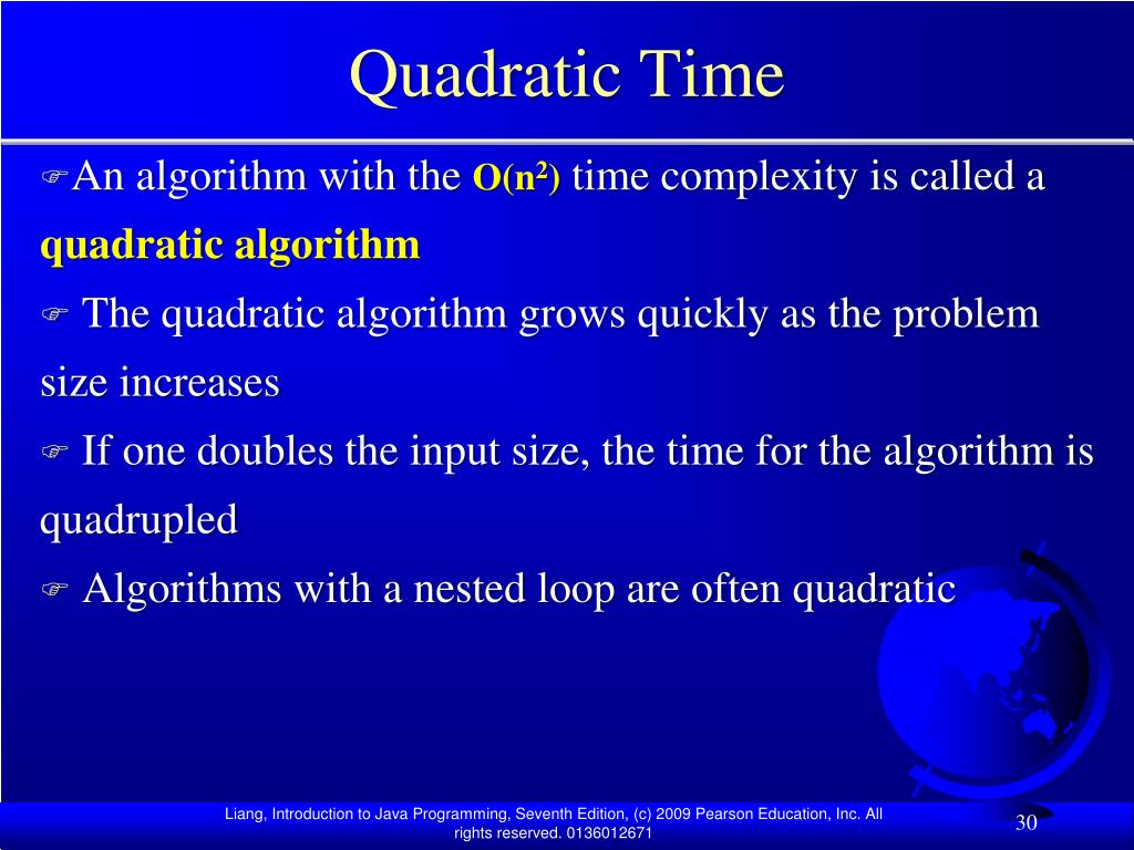 Quadratic Time