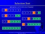 selection sort77